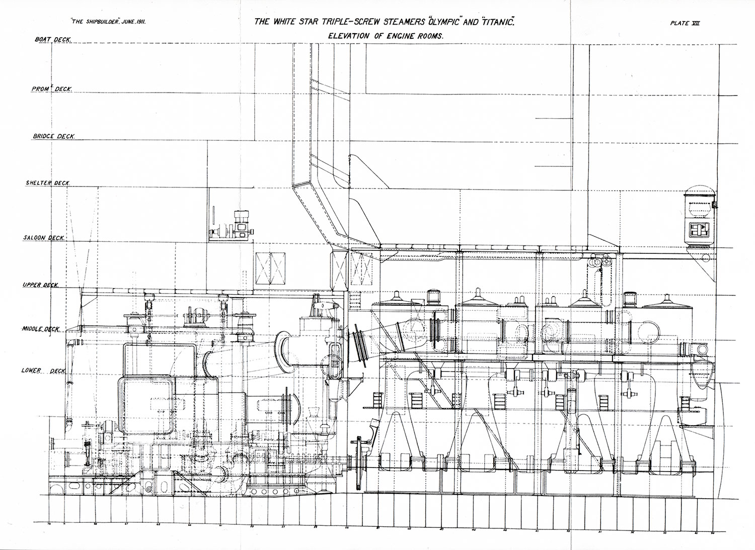 hight resolution of plate 7 elevation of engine rooms
