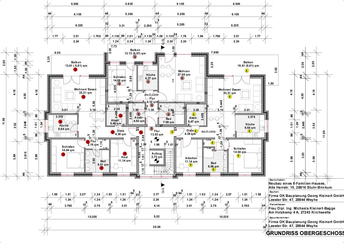 Mehrfamilienhaus Stuhr Brinkum GK Bauplanung Georg