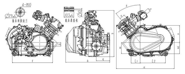 China 400CC Dune Buggy ATV UTV Tricycle Engine