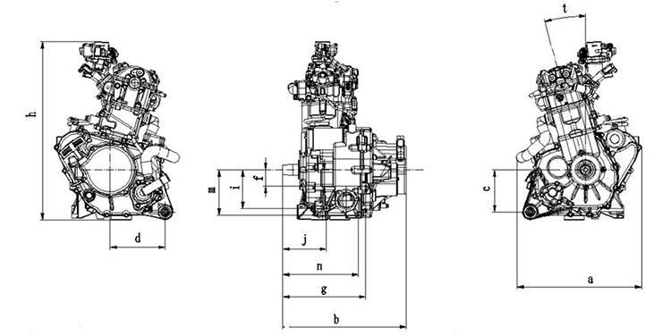 China 600CC Motorcycle Snowmobile ATV UTV Engine