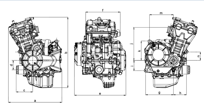 China 500CC Inline Two Cylinder Motorcycle Engine