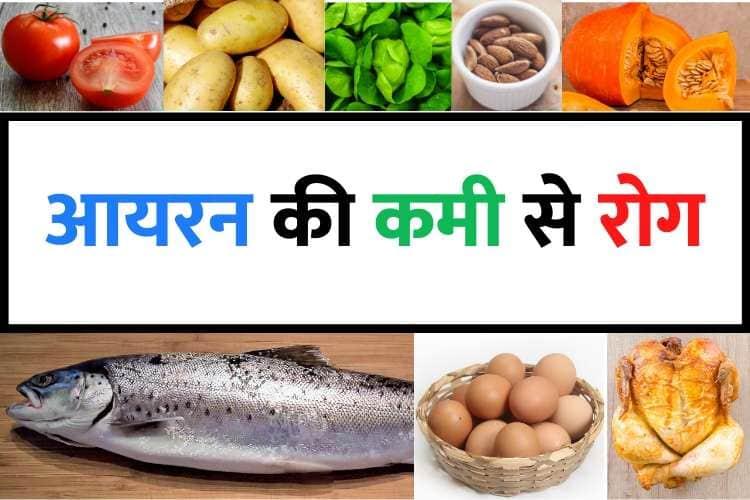 शरीर में आयरन की कमी से कौन सा रोग होता है - Sharir mein iron ki kami se kaun si bimari hoti hai