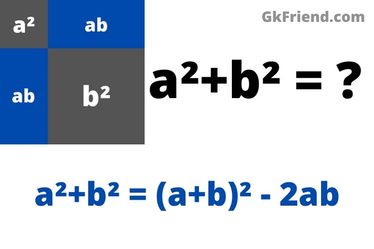 formula for a2 + b2, a2+b2 is equal to Prove, square plus b square, a2+b2 =.?