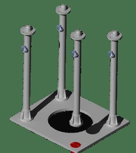 stanchion-1236-setup