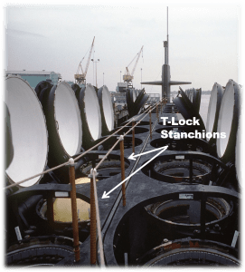 t-lock stanchions
