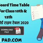 Bihar Board Time Table 2020 For Class 10th & 12th-min