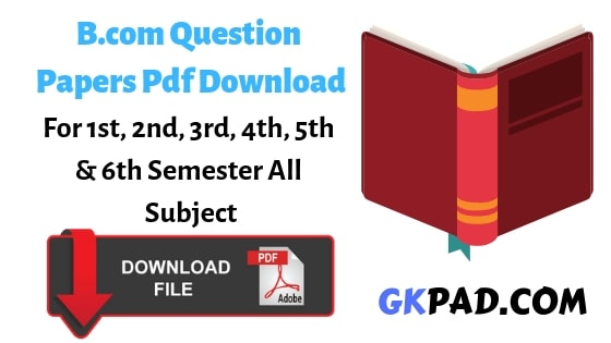 B.com Question Papers