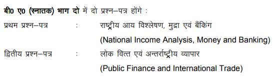 BA 2nd Year Economics Syllabus in Hindi
