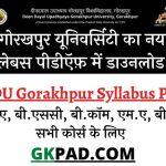 DDU Syllabus 2021 in Hindi PDF Download