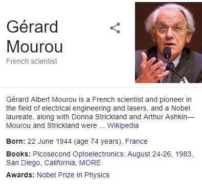 Nobel Prize For Medicine 2018 For Pathbreaking Inventions Dr Strickland and Dr Mourou