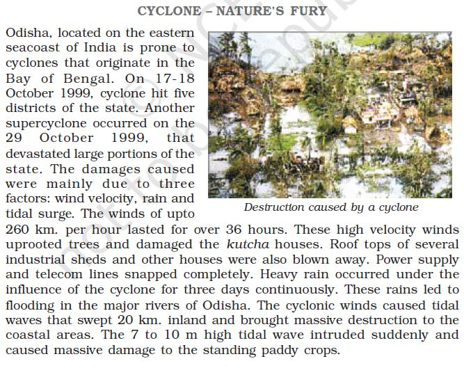 destruction caused by a cyclone