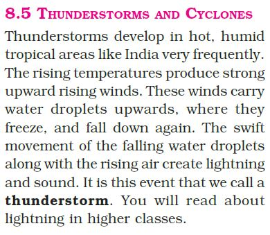 thunderstorms and cyclones