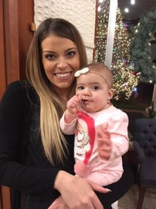 Christian Turak Wife and Baby at Christmas Party
