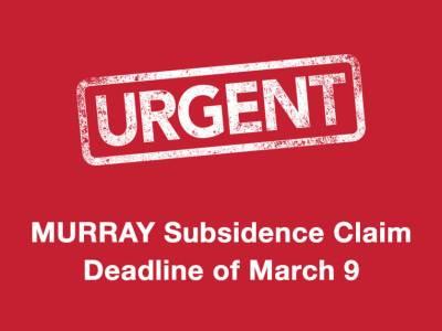 Urgent Murray Claim