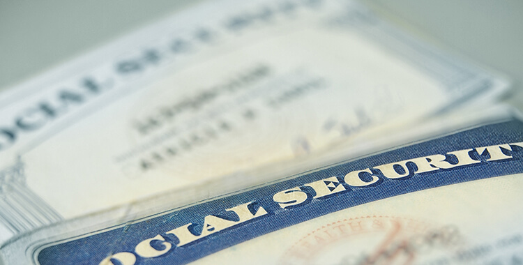 Social Security number cards