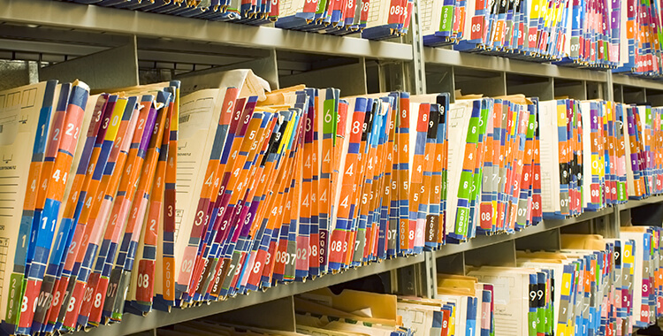Medical Records on Shelf