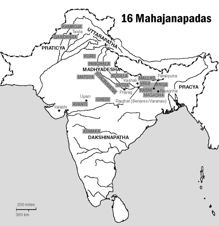 16 Mahajanapada and their capitals - GKToday