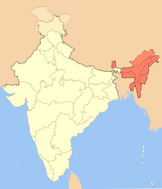 indian map east west
