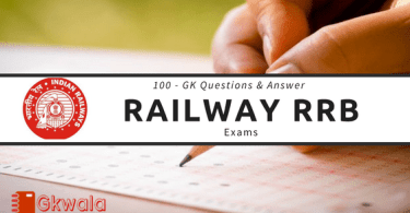 GK Questions and Answer asked in Railway RRB