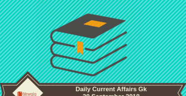 30 September 2018- Daily current affairs Gk
