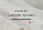 Daily Current Affairs GK Questions Answer 02 January 2019