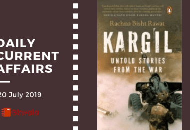 Daily Current Affairs GK Questions 20 July 2019