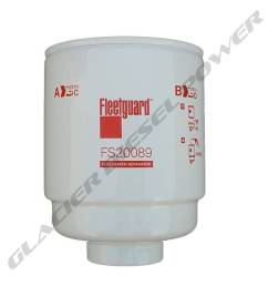 fleetguard 13 18 fleetguard fs20089 primary fuel water separator filter [ 1000 x 1000 Pixel ]