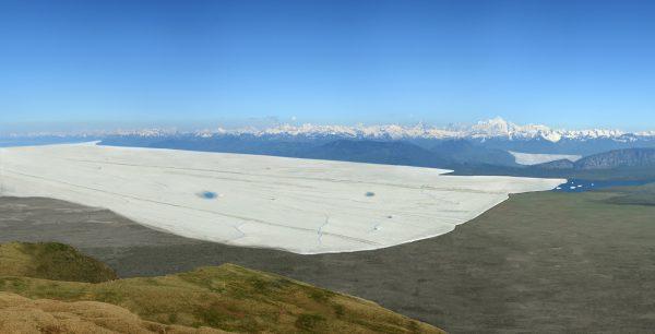 Reconstitution du glacier du Rhône au stade de Genève