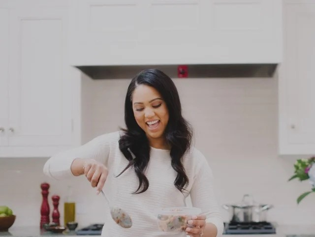 glad kitchen trash bags cabinets color in the with ayesha curry