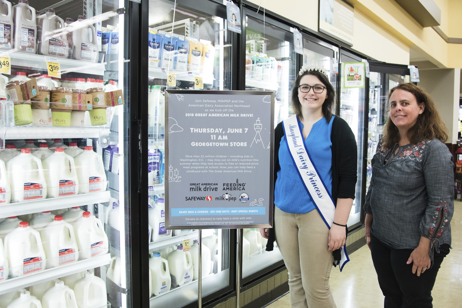 MARYLAND DAIRY FARMER, DAIRY PRINCESS HELP GET MILK TO FAMILIES IN