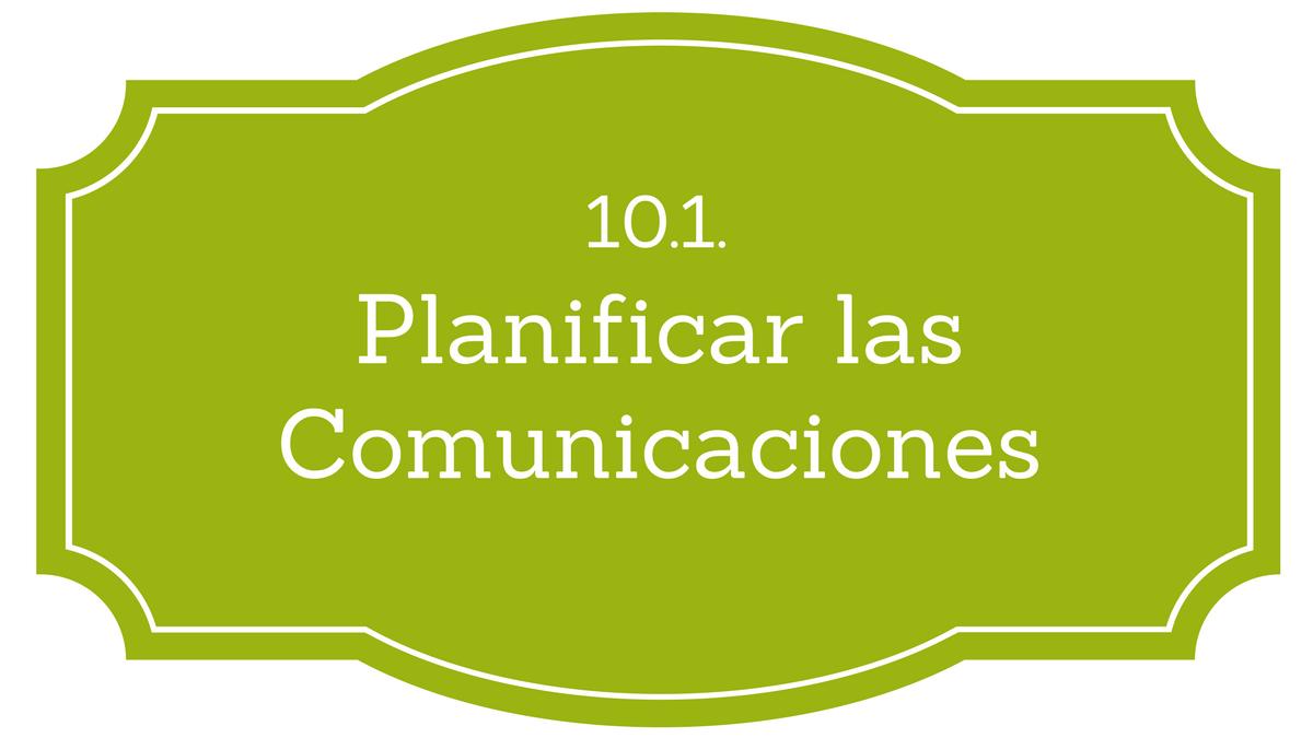 Planificar las Comunicaciones PMBOK