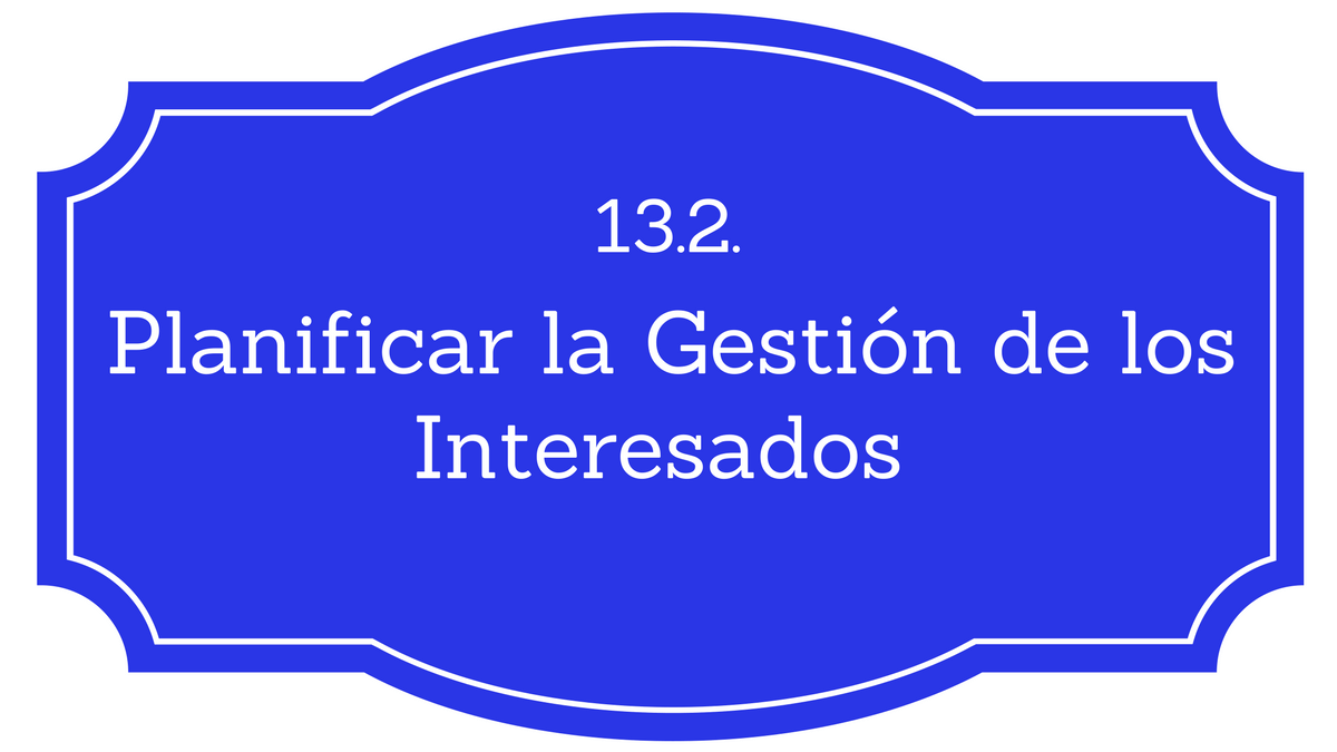 Gestion de interesados PMBOK
