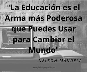 Nelson Mandela; educación
