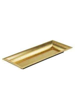 Dekotablett gold rechteckig 28 x 125 cm