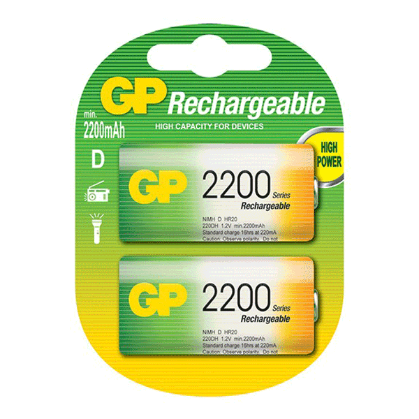 GP NiMh Rechargeable D-Size