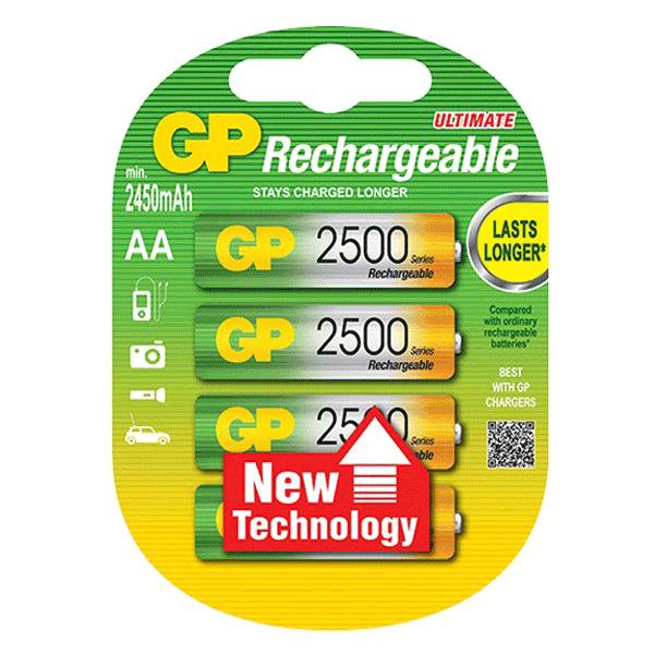 GP NiMh Rechargeable AA 2500Mah