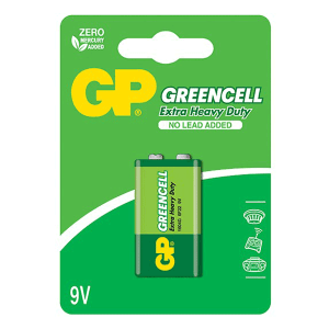 GP Greencell Carbon Zinc 9V