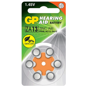 GP Hearing Aid Batteries ZA13