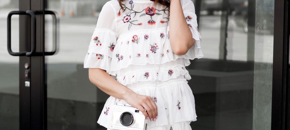 Styling A Summer Floral Dress for Fall