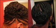 flat twisted updo natural hair