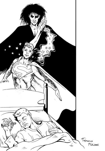 MORFEO, e i supereroi, nella versione di Fabiano Fedi (2005) autore di Borgo a Buggiano (PT). Per gentile concessione