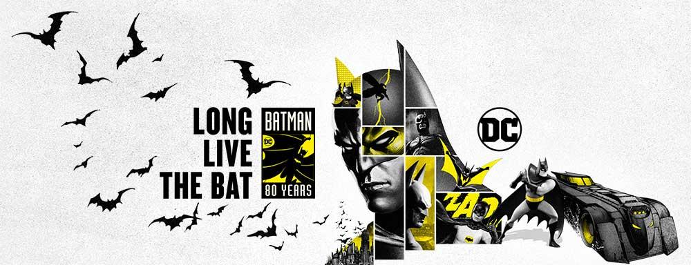 immagine celebrativa di BatMan 80 Years © DC Comics