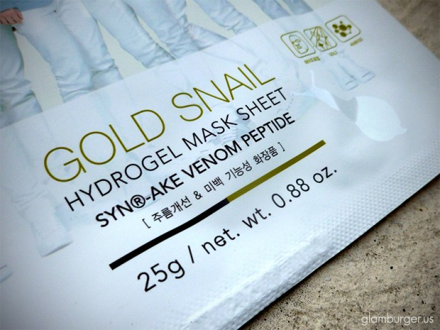 Nature Republic Gold Snail Synake Venom Peptide Hydrogel Mask Sheet