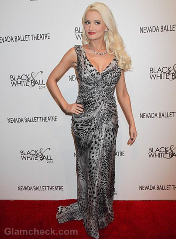 Holly Madison Dons Animal Print For 2012 Black Amp White Ball