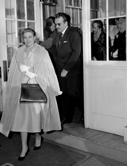 Grace Kelly con la Kelly bag Hèrmes