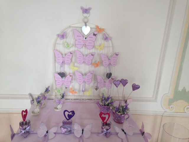 Tableau de mariage Tema glicine + farfalla