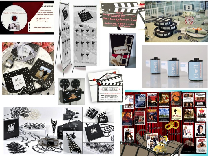 Matrimonio Tema Cinema : Decorazioni per il matrimonio a tema cinema foto matrimonio