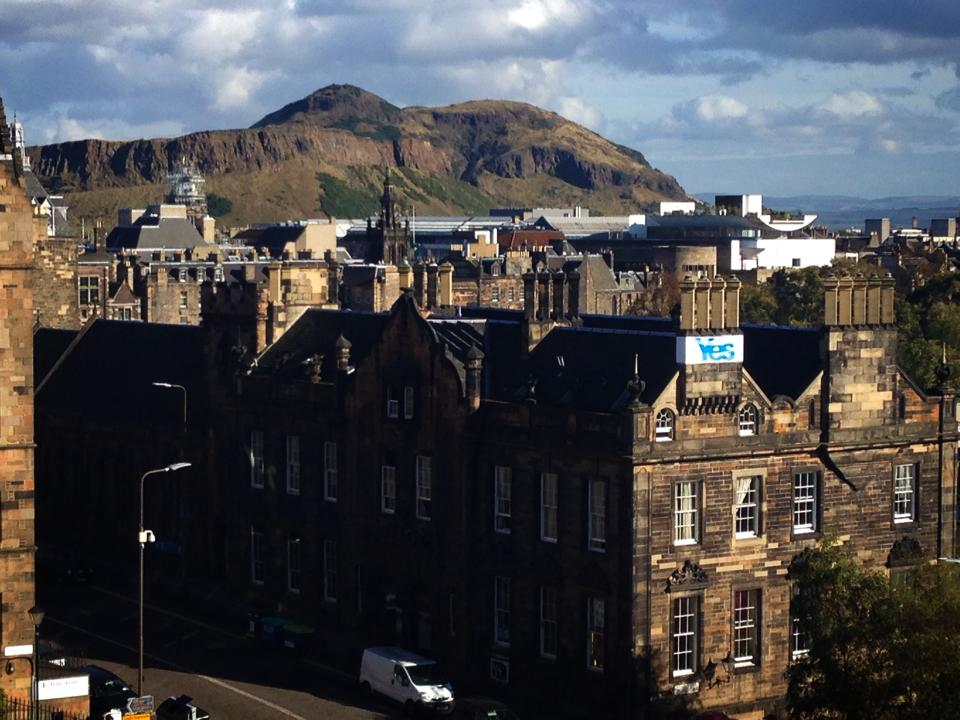 The beautiful old buildings against Arthur's Seat are classic Edinburgh highlights