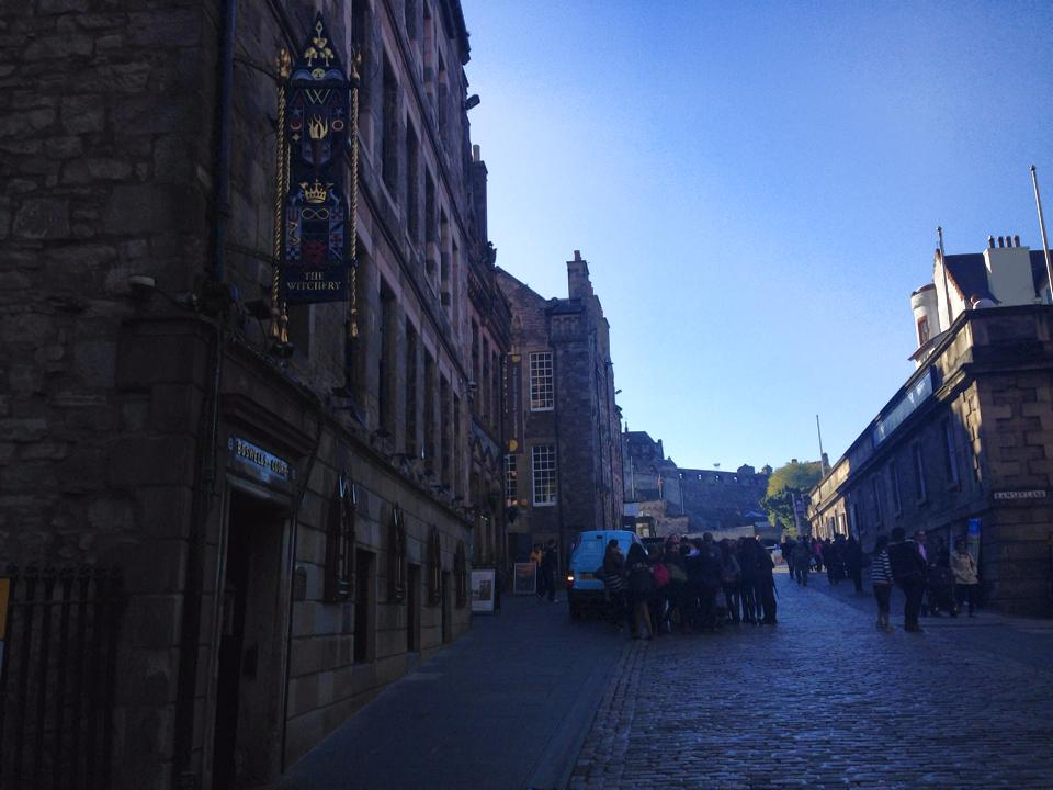 The Royal Mile restaurants leading up to Edinburgh Castle