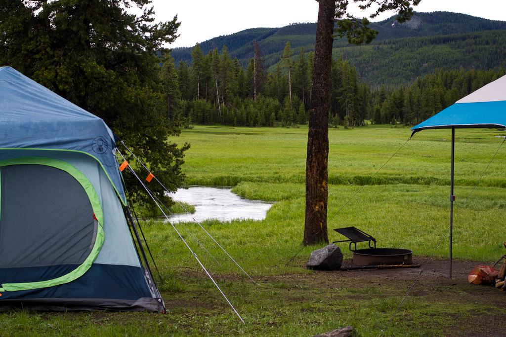 Norris campground Solfatara Creek Yellowstone